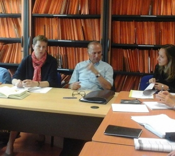 Comite suivi contrat ruralité - Mme Lenglet, Sous-Préfet de Muret, et de M. Gérard Roujas, Président