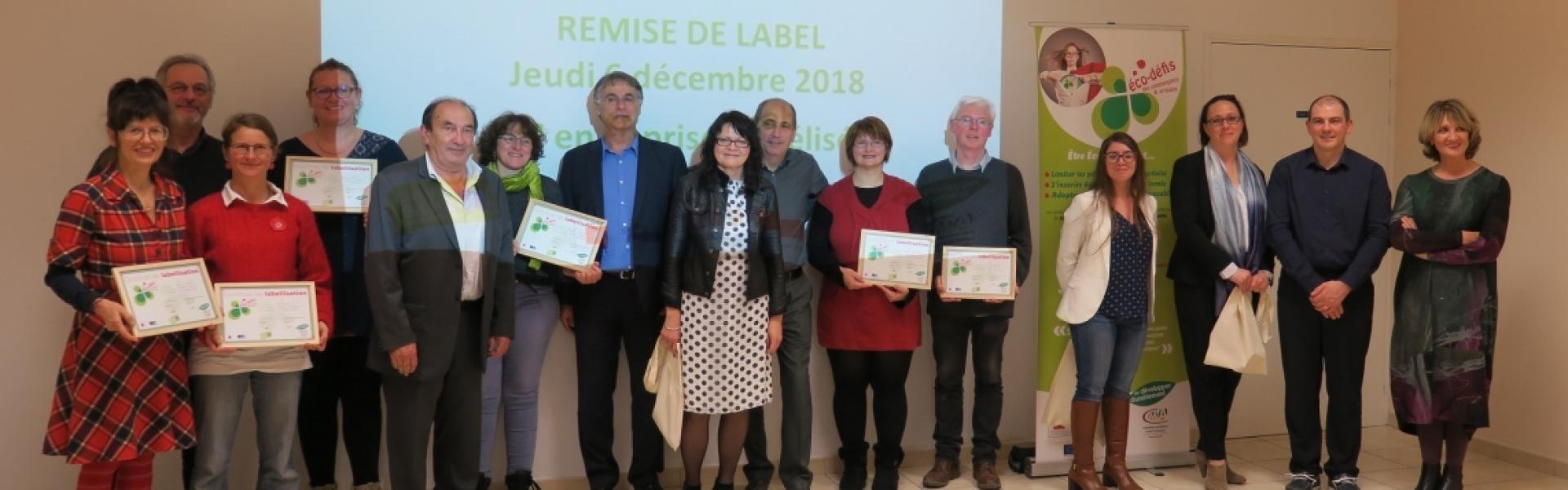 Labellisés Eco Défi 2018