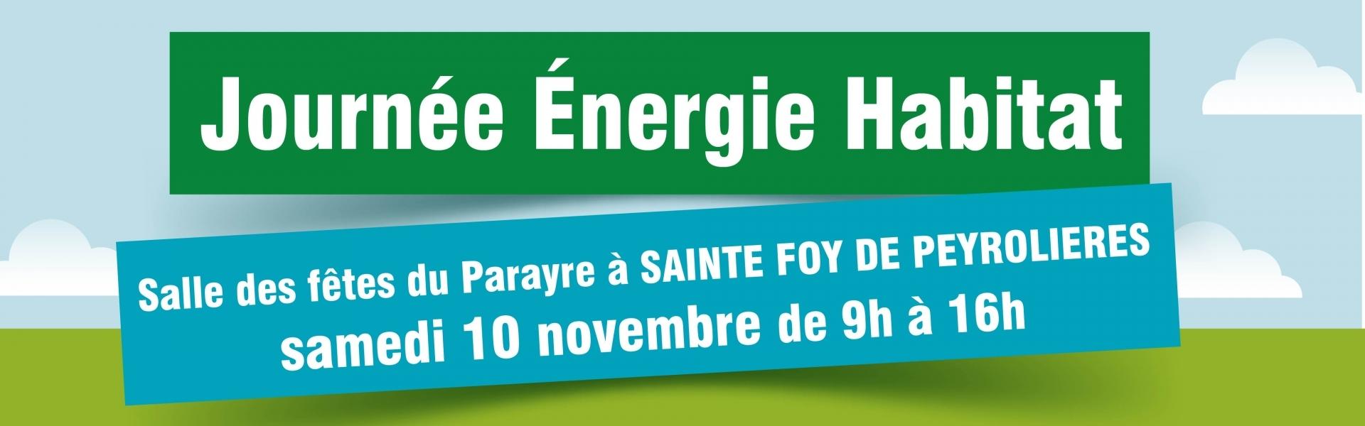 Journée énergie habitat à Sainte Foy de Peyrolières