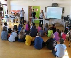 Elise SIEURAC et la Régie à l'école Martres Tolosane