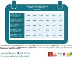 planning des permanences de l'EIE pour le 1er semestre 2018