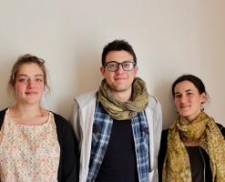 stagiaires Eliette, Tony et Solène